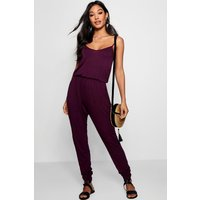 Womens Basic Cami Jumpsuit - red - 12, Red