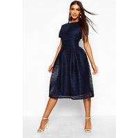 Womens Boutique Full Skirted Prom Midi Dress - navy - 16, Navy