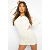 Soft Knit Jumper Dress - cream
