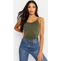 Womens Basic Strappy Vest - green - 10, Green