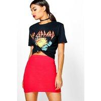 Basic Bodycon Mini Skirt - red