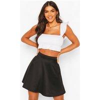 Colour Pop Skater Skirt - black