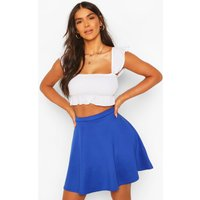 Womens Basic Fit And Flare Skater Skirt - blue - 16, Blue