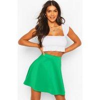 Colour Pop Skater Skirt - emerald