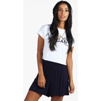 Plain Flippy Culottes - navy