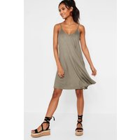 Womens Strappy Swing Dress - green - 8, Green