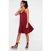 Strappy Swing Dress - wine