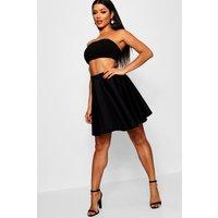 Womens Basic Scuba Skater Skirt - black - 12, Black