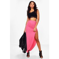 Viscose Maxi Skirt - sugar-coral