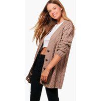 Cable Knit Cardigan - mink
