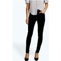 Super High Waisted Skinny Tube Jeans - black