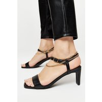 Sonia Chain Detail Heeled Sandal