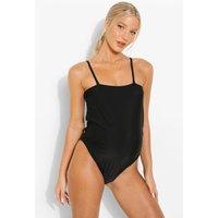 Womens Maternity Bandeau Swimsuit - Black - 8, Black