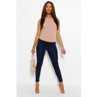 Womens Maternity Skinny Jeans - Blue - 14, Blue