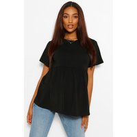 Womens Maternity Crew Neck Smock Top - Black - 14, Black