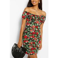 Womens Maternity Floral Sundress - Red - 10, Red