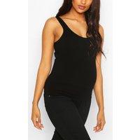 Womens Maternity Seamless Vest - Black - S, Black