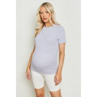 Womens Maternity Cotton T-Shirt - Grey - 12, Grey