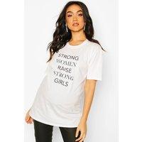 Maternity Strong Women Strong Girls T-Shirt - white - S, White