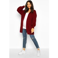 Womens Maternity Bell Sleeve Knitted Cardigan - red - L, Red