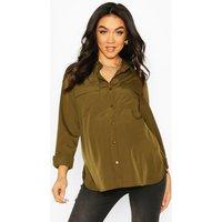 Womens Maternity Pocket Detail Woven Shirt - green - 16, Green