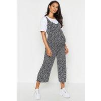 Womens Maternity Ditsy Floral Culotte Jumpsuit - Black - 16, Black