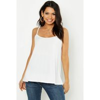 Womens Maternity Rib Swing Cami Top - white - 14, White