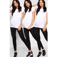 Womens Maternity 3 Pack Over The Bump Legging - black - 8, Black