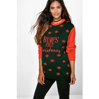 May Bumps First Christmas Jumper - multi