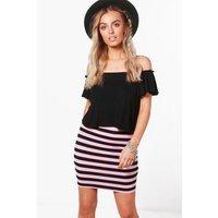 Striped Mini Skirt - multi