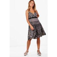 Aztec Print Maxi Dress - multi