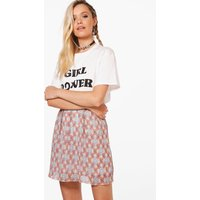Aztec Print Skirt - red