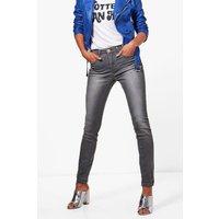 Grey Skinny 5 Pocket Jeans - grey