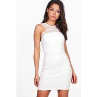 Eyelash Lace Mini Dress - ivory