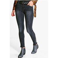 Distressed Skinny Jeans - black