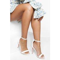 Womens Basic 2 Part Heels - White - 8, White