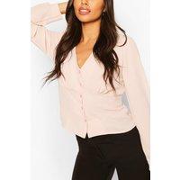 Womens Woven Waist Detail Blouse - Pink - 14, Pink
