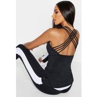 Womens Fit Strappy Back Running Vest - Black - 16, Black