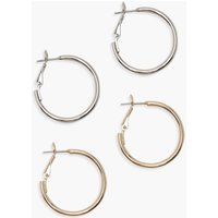 Womens 25mm Hoop Earring 2 Pack - multi - One Size, Multi