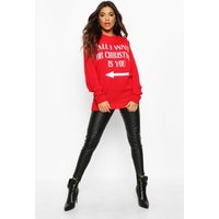 Womens All I Want For Christmas Is You - red - L, Red