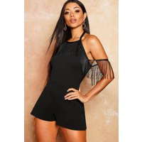 Tassle Trim Tie Back Playsuit