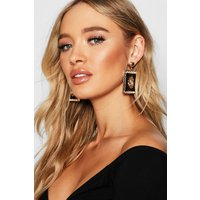 Womens Lion Statement Earrings - metallics - One Size, Metallics