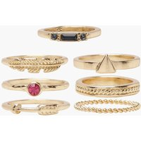 Womens Simple Stackable Ring Pack - Metallics - One Size, Metallics