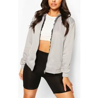 Womens Basic Zip Through Hoodie - Grey - 10, Grey