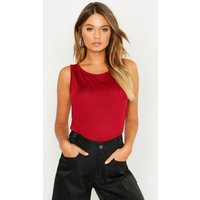 Womens Basic Vest - red - 10, Red