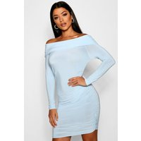 Abi Off the Shoulder Ruched Bodycon Dress