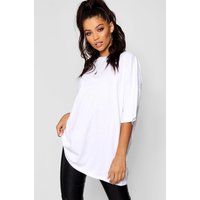 Womens Basic Washed Oversized T-Shirt - white - M, White