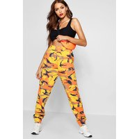 Womens Camo Sweat Jogger - Orange - 12, Orange