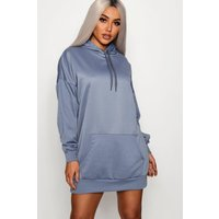 Womens The Perfect Oversized Hooded Sweat Dress - Green - 16, Green