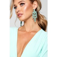 Statement Gemstone Waterfall Earrings